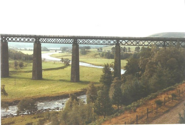 The Findhorn Railway Viaduct in 1984