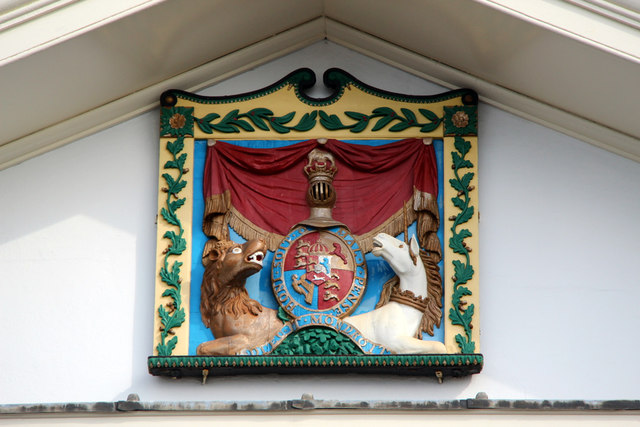 Coat of Arms, Admiral's Office, Chatham Historic Dockyard, Kent