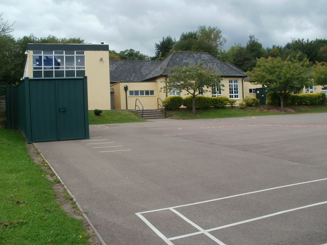 Southern edge of Our Lady of the Angels RC Primary School, Cwmbran