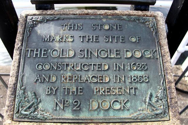 Commemorative Stone, Chatham Historic Dockyard, Kent