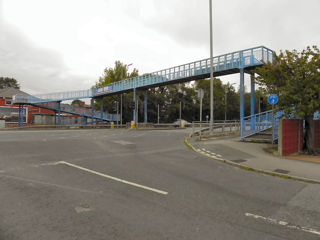 Footbridge over East Lancashire Road (A580)