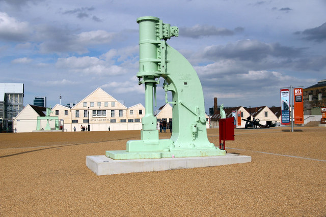 Steam Hammer, Chatham Historic Dockyard, Kent