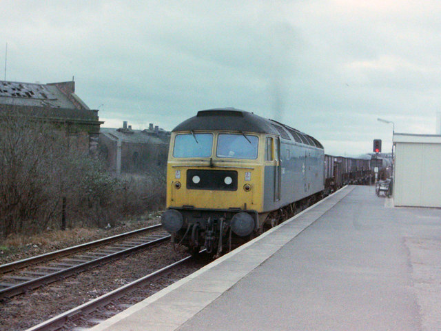 Freight Train at Bromsgrove, 1980