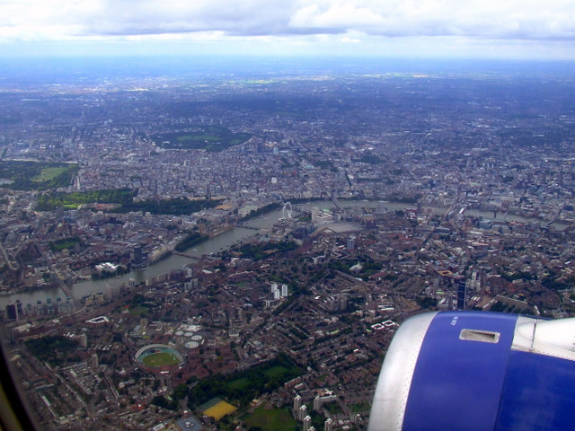 South and Central London from the air