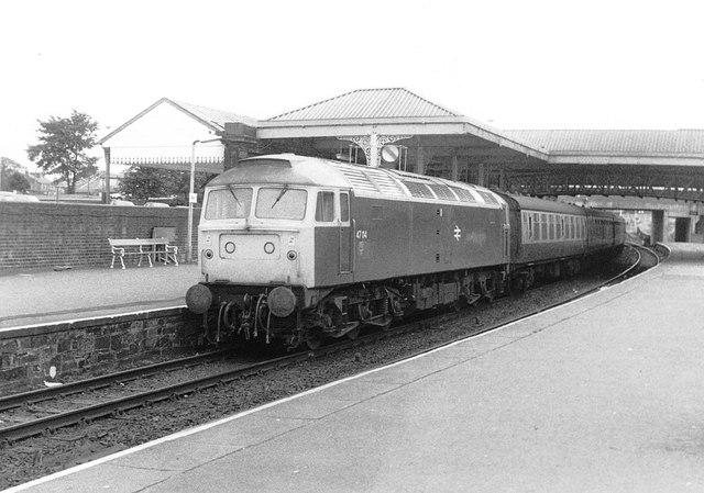 Class 47 at Ayr, 1983
