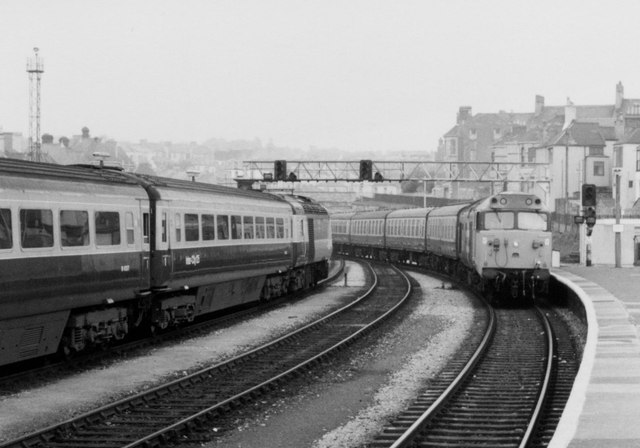 East End of Plymouth Station, 1984