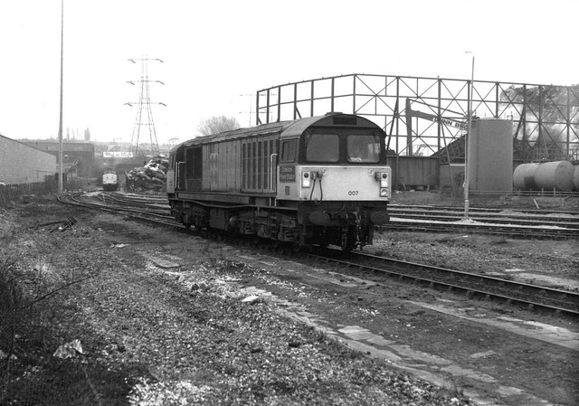 Class 58 at Saltley Depot, 1991