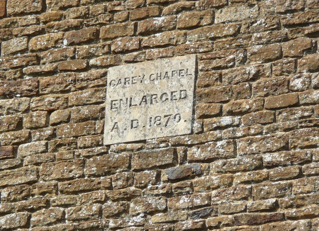 Date stone on Carey Baptist Chapel
