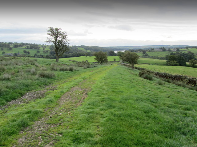 Track approaching West End Lane near Blubberhouses