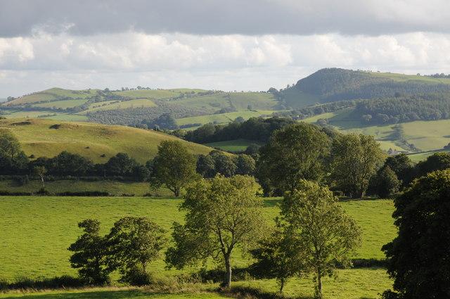 Farmland north of Llanfyllin