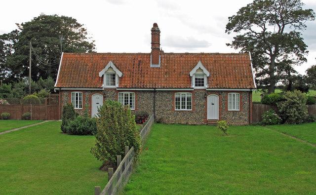 Flint faced cottages