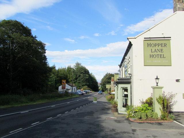 A59 outside Hopper Lane Hotel