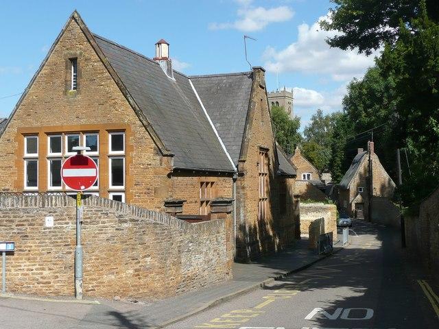 School and  Church Hill, Moulton