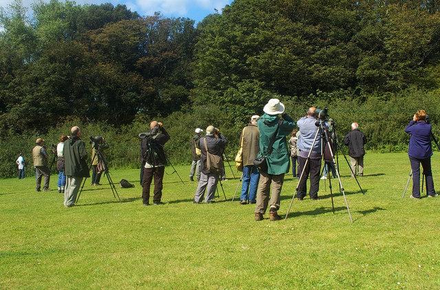 Bird watchers at Cromer