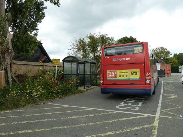 Bus in Bosham Car Park