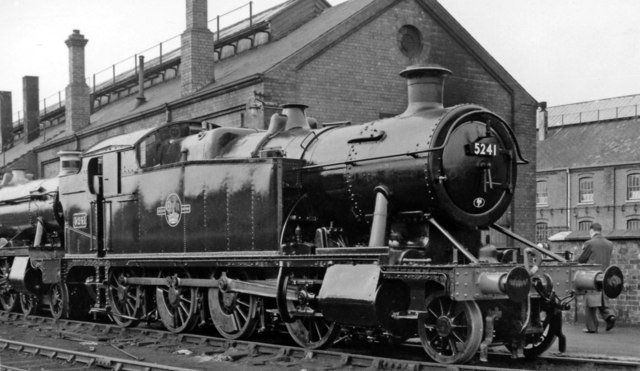 A GW 2-8-0T at Swindon Works, fresh from repair