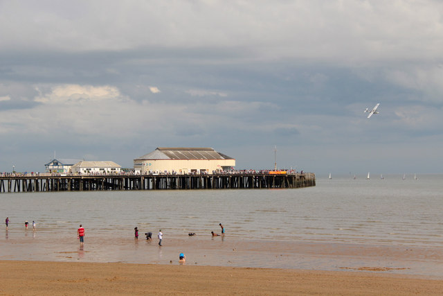 Catalina over Clacton Beach, Essex