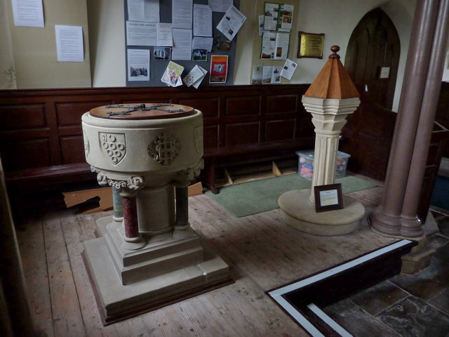 Church of St Mary the Virgin, Arkengarthdale, Fonts