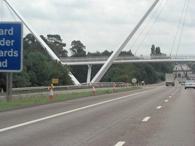 M20 footbridge at Junction 9
