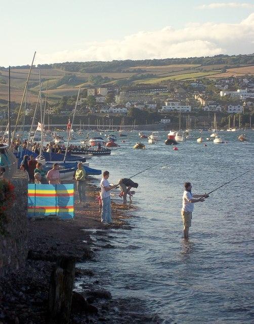 Shaldon beach during the regatta