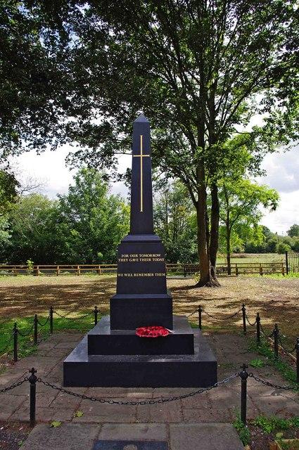 The new War Memorial, High Street, Kinver