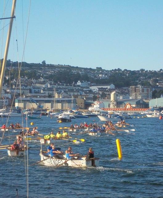 Gig race, Shaldon regatta