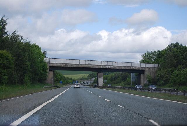 Railway (disused) bridge over the A1(M)