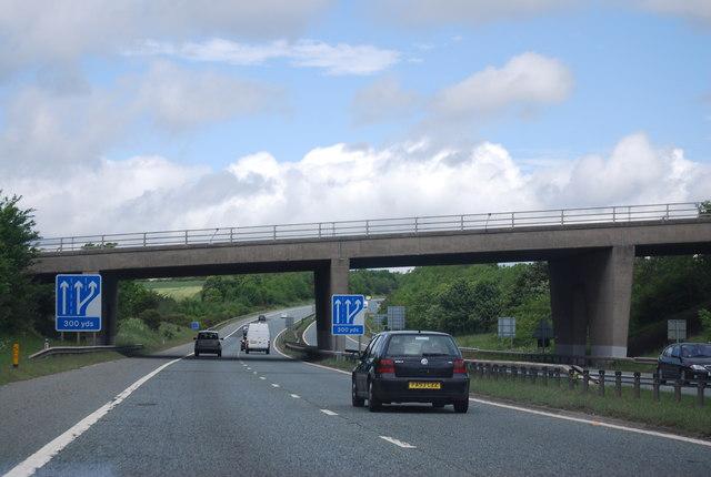 B1198 bridge over the A1(M)