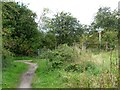 SE3834 : Bridleway and footpath junction by Christine Johnstone