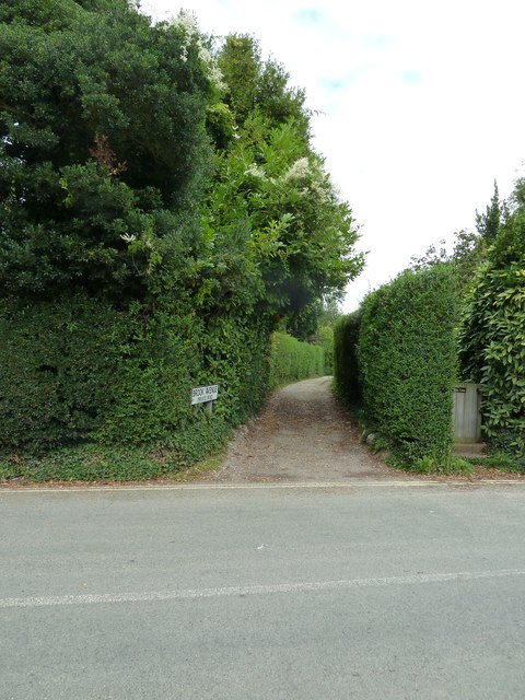 Looking from Bosham Lane into Brook Avenue