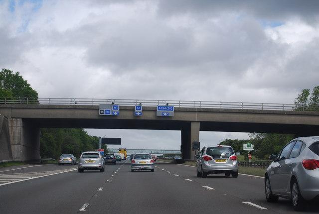 Overbridge, Junction 64, A1(M)