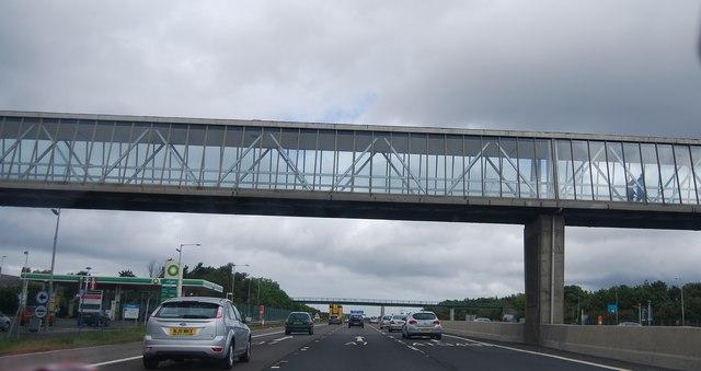 Washington Birtley Services overbridge, A1(M)