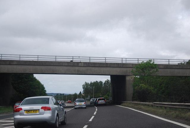 The last bridge over the A1(M)