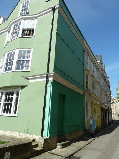 Colourful buildings in Oriel Street