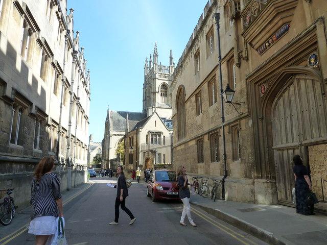 A busy scene in Merton Street