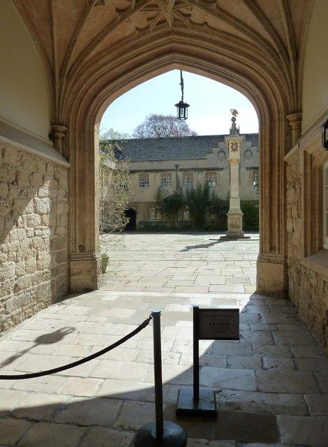 Entrance of Corpus Christi College