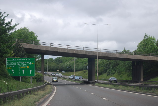 A1 / A692 Junction overbridge