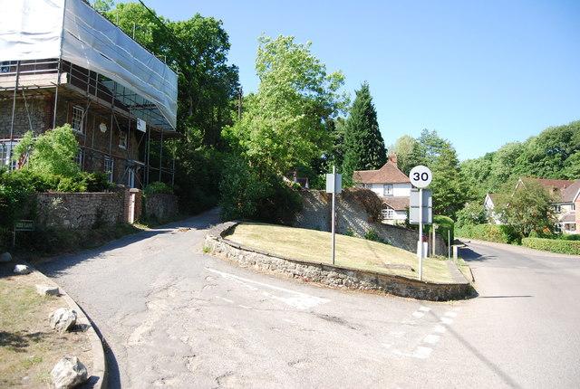Basted Lane, Mill Lane junction