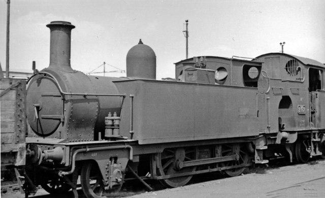Swindon Works: 'Metropolitan' class 2-4-0T on the Dump