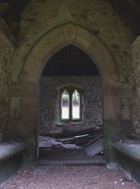 Inside the porch of the Littledale Free Church