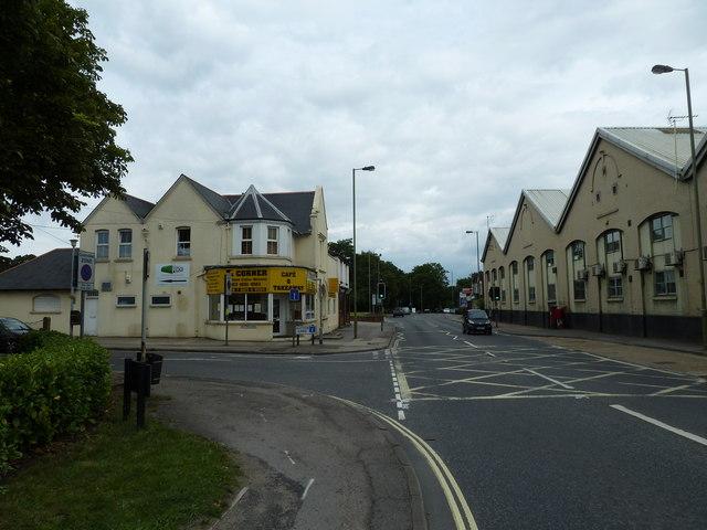 Junction of  Bishopstoke Road and Dutton Lane