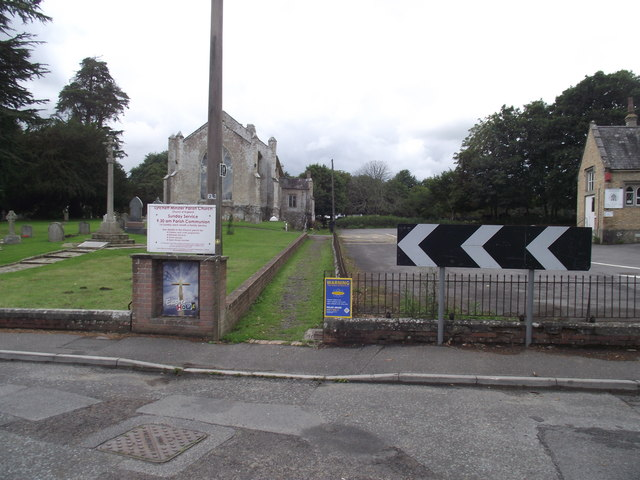 Footpath past the church