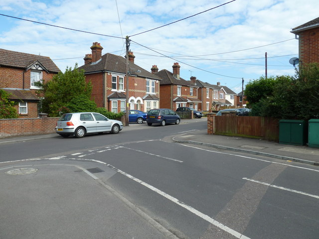 Looking from Lydlynch Road into Bagber Road