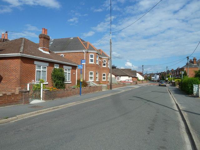 Bus stop in Water Lane