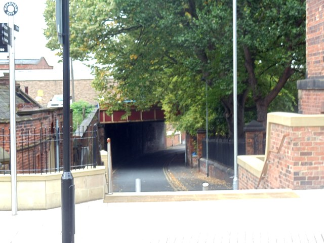 Underpass at the rear of Westgate station, Wakefield