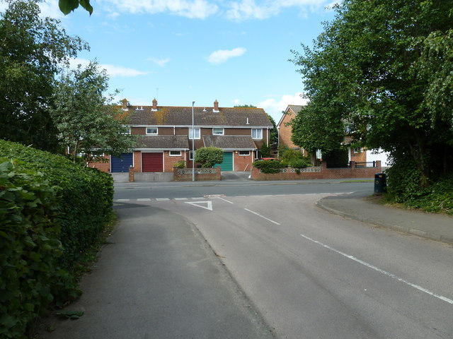 Looking from Lawford Way  into Water Lane