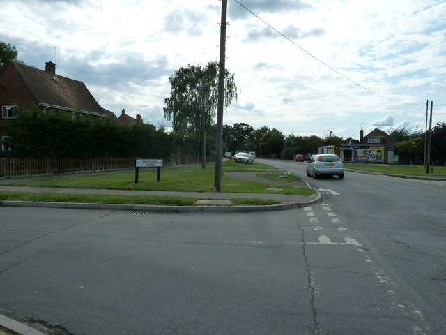 Junction of Water Lane and Montgomery Avenue
