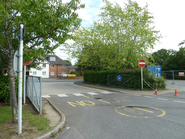 Looking from Totton College towards Water Lane