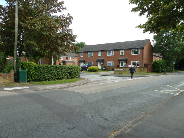 Looking from Water Lane into Boniface Close