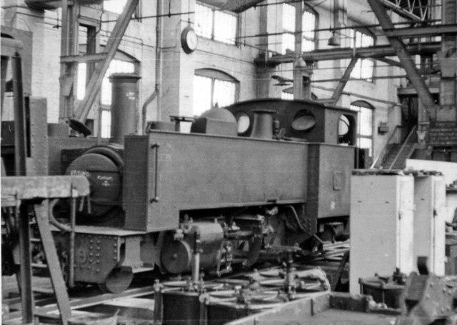Swindon Works: Vale of Rheidol narrow-gauge 2-6-2T in 'A' Shop